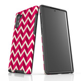 For Samsung Galaxy Note 10 Protective Case, Zigzag Magenta Pattern   iCoverLover Australia