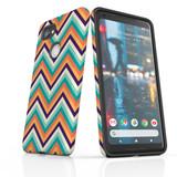 For Google Pixel 2 Protective Case, Zigzag Rainbow Pattern   iCoverLover Australia