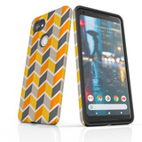 For Google Pixel 2 Protective Case, Zigzag Yellow Pattern | iCoverLover Australia