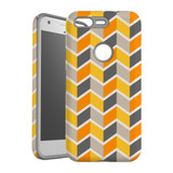 For Google Pixel 1 Protective Case, Zigzag Yellow Pattern | iCoverLover Australia