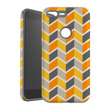For Google Pixel 1 XL Protective Case, Zigzag Yellow Pattern | iCoverLover Australia