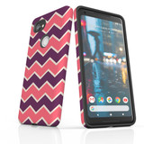 For Google Pixel 2 Protective Case, Zigzag Pink Purple Pattern   iCoverLover Australia