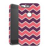 For Google Pixel 1 XL Protective Case, Zigzag Pink Purple Pattern   iCoverLover Australia