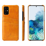 Samsung Galaxy S20/20+ Plus/20 Ultra Case Deluxe Leather Protective Cover Yellow | iCoverLover Australia