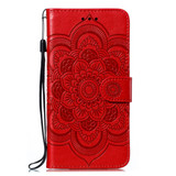 For Samsung Galaxy S20 Mandala Embossing Pattern Wallet Leather Case, Black | iCoverLover Australia
