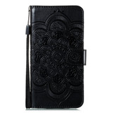 For Samsung Galaxy S20 Mandala Embossing Pattern Wallet Leather Case, Rose Gold | iCoverLover Australia