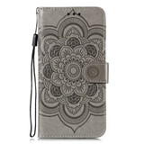 For Samsung Galaxy S20 Ultra Mandala Embossing Pattern Wallet Leather Case, Purple | iCoverLover Australia