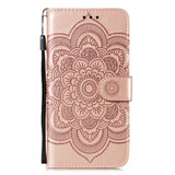 For Samsung Galaxy S20 Ultra Mandala Embossing Pattern Wallet Leather Case, Green | iCoverLover Australia