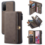For Samsung Galaxy S20 Case Detachable Multi-functional Folio Leather Cover, Brown | iCoverLover Australia
