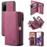 For Samsung Galaxy S20 Case Detachable Multi-functional Folio Leather Cover, Red | iCoverLover Australia