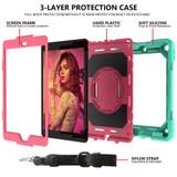 iPad 10.2in (2021,2020,2019) , 360 Rotation Protective PC + Silicone Cover, Shoulder & Hand Strap, Pencil SlotiPad Cases | iCoverLover.com.au