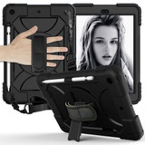 For iPad 10.2in (2021,2020,2019) Case Shockproof PC + Silicone Combination ,Holder, Hand Strap, Shoulder Strap, BlackiPad Cases | iCoverLover.com.au