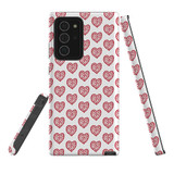 For Samsung Galaxy Note 20 Ultra Case, Tough Protective Back Cover, reheart pattern   iCoverLover Australia