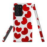 For Samsung Galaxy Note 20 Ultra Case, Tough Protective Back Cover, heart pattern   iCoverLover Australia