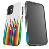For Apple iPhone 12 Pro Max/12 Pro/12 mini Case, Tough Protective Back Cover, rainbow bar pattern | iCoverLover Australia