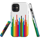 For Apple iPhone 12 Pro Max Case, Tough Protective Back Cover, rainbow bar pattern | iCoverLover Australia