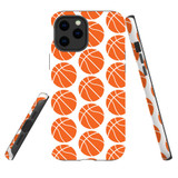 For Apple iPhone 12 Pro Max Case, Tough Protective Back Cover, basketballs pattern   iCoverLover Australia