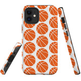For Apple iPhone 12 mini Case, Tough Protective Back Cover, basketballs pattern   iCoverLover Australia