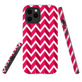 For Apple iPhone 12 Pro Max Case, Tough Protective Back Cover, Zigzag magenta Pattern | iCoverLover Australia