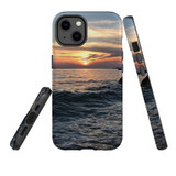 For Apple iPhone 12 Pro Max Case, Tough Protective Back Cover, wavy sunset   iCoverLover Australia