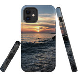 For Apple iPhone 12 mini Case, Tough Protective Back Cover, wavy sunset   iCoverLover Australia