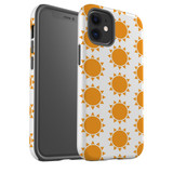 For Apple iPhone 12 Pro Max/12 Pro/12 mini Case, Tough Protective Back Cover, yellow sun pattern | iCoverLover Australia