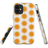 For Apple iPhone 12 mini Case, Tough Protective Back Cover, yellow sun pattern | iCoverLover Australia
