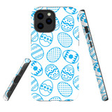 For Apple iPhone 12 Pro Max Case, Tough Protective Back Cover, blue easter eggs | iCoverLover Australia