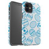 For Apple iPhone 12 Pro Max/12 Pro/12 mini Case, Tough Protective Back Cover, blue easter eggs | iCoverLover Australia
