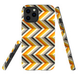 For Apple iPhone 12 Pro Max Case, Tough Protective Back Cover, Zigzag left right yellow Pattern | iCoverLover Australia