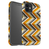 For Apple iPhone 12 Pro Max/12 Pro/12 mini Case, Tough Protective Back Cover, Zigzag left right yellow Pattern | iCoverLover Australia