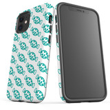 For Apple iPhone 12 Pro Max/12 Pro/12 mini Case, Tough Protective Back Cover, blue candy pattern | iCoverLover Australia