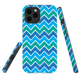 For Apple iPhone 12 mini Case, Tough Protective Back Cover, blue green abstract pattern | iCoverLover Australia