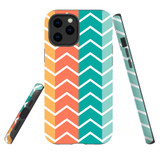 For Apple iPhone 13 mini Case, Protective Back Cover, Colourful Zigzag   Shielding Cases   iCoverLover.com.au