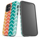 For Apple iPhone 12 Pro Max/12 Pro/12 mini Case, Tough Protective Back Cover, Zigzag colorful Pattern   iCoverLover Australia
