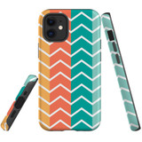 For Apple iPhone 12 Pro Max Case, Tough Protective Back Cover, Zigzag colorful Pattern   iCoverLover Australia
