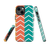 For Apple iPhone 13 Pro Case, Protective Back Cover, Colourful Zigzag   Shielding Cases   iCoverLover.com.au
