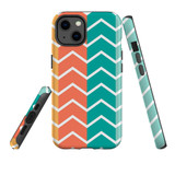 For Apple iPhone 13 Pro Max Case, Protective Back Cover, Colourful Zigzag   Shielding Cases   iCoverLover.com.au