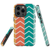 For Apple iPhone 12 mini Case, Tough Protective Back Cover, Zigzag colorful Pattern   iCoverLover Australia