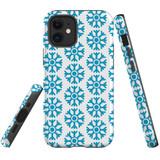 For Apple iPhone 12 mini Case, Tough Protective Back Cover, blue snowflakes | iCoverLover Australia