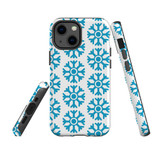 For Apple iPhone 13 mini Case, Protective Back Cover, Blue Snowflakes | Shielding Cases | iCoverLover.com.au