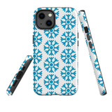 For Apple iPhone 13 Case, Protective Back Cover, Blue Snowflakes | Shielding Cases | iCoverLover.com.au