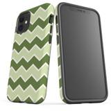 For Apple iPhone 12 Pro Max/12 Pro/12 mini Case, Tough Protective Back Cover, Zigzag green Pattern   iCoverLover Australia