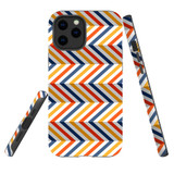 For Apple iPhone 12 Pro Max Case, Tough Protective Back Cover, Zigzag left right colorful Pattern | iCoverLover Australia