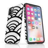 For Apple iPhone 12 mini Case, Tough Protective Back Cover, Japanese Folk Wave | iCoverLover Australia