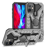 iPhone 12 / 12 Pro (6.1in) Case Tough Armour Protective Cover with Magnetic Ring Holder Grey