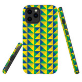For Apple iPhone 12 mini (5.4in) Case, Tough Protective Back Cover, brazil flag abstract pattern | iCoverLover Australia