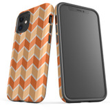 For Apple iPhone 12 Pro Max/12 Pro/12 mini Case, Tough Protective Back Cover, Zigzag salmon Pattern | iCoverLover Australia