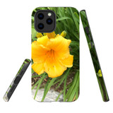 For Apple iPhone 12 Pro Max Case, Tough Protective Back Cover, yellow flower | iCoverLover Australia