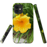 For Apple iPhone 12 mini Case, Tough Protective Back Cover, yellow flower | iCoverLover Australia